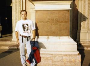 Budapest, Marx shirt 1991